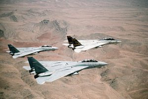 320px-F-14A_Tomcats_of_VF-32_in_flight_over_a_desert_1991