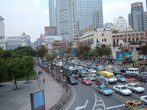 Traffic in Huangpu District, Shanghai 2007-10-27 1